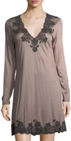 Josie Natori Charlize Lace-Trim Sleep Shirt