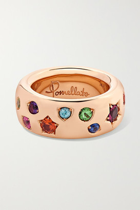 Pomellato Iconica 18-karat Rose Gold Multi-stone Ring - 56