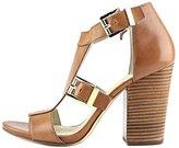 Michael Kors Robin T-strap Womens Size 8 Tan Leather Dress Sandals Shoes