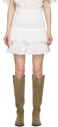 Etoile Isabel Marant White Tinaomi Miniskirt