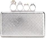 Alexander McQueen Knuckle case clutch - women - Brass/Crystal - One Size