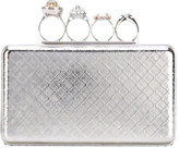 Alexander McQueen Knuckle case clutch - women - Crystal/Brass - One Size