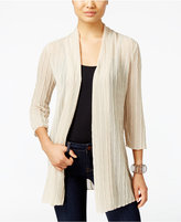 JM Collection Open-Front Textured Cardigan, Only at Macy's