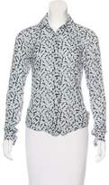 Lorenzini Printed Button-Up Top