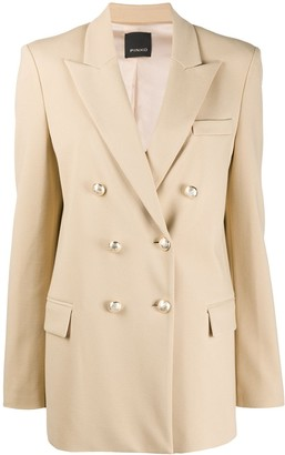 Pinko Long-Sleeve Double Breasted Blazer