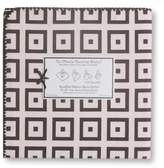 Swaddle Designs Ultimate Receiving Blanket - Pastel Pink with Chocolate Mod Squares