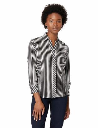 Foxcroft Women's Petite Taylor Non Iron Stripe Shirt