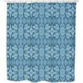uneekee Succulenta Exotica Shower Curtain: Large Waterproof Luxurious Bathroom Design Woven Fabric