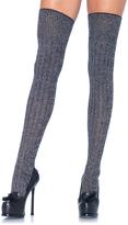 Leg Avenue Heather Gray Ribbed Thigh-High Socks