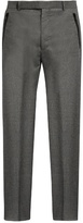 Balenciaga Wide-leg flannel-wool trousers