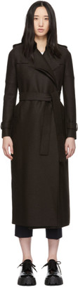 Harris Wharf London Brown Pressed Wool Long Coat