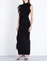 Christopher Kane Feather embellished maxi dress
