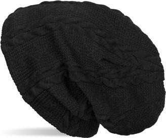 styleBREAKER Warm fine-Knit Beanie with Plait Pattern and Fleece Lining Slouch Long Beanie Unisex 04024131