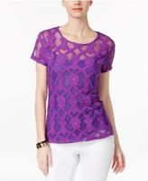 INC International Concepts Embellished Embroidered Top, Only at Macy's