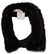 Marni Denim-Trimmed Fur Collar