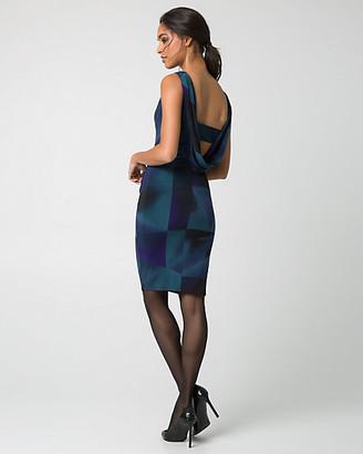 Le Château Geo Print Knit Boat Neck Cocktail Dress