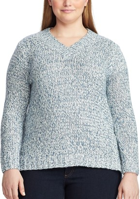 Chaps Plus Size V-Neck Sweater