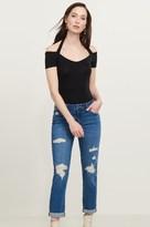 Dynamite Cara Medium Wash Distressed Relaxed Skinny Jean