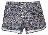 River Island MensBlue animal print runner swim trunks