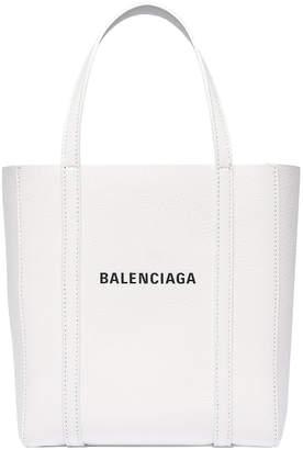 Balenciaga XXS Everyday Tote Bag in White & Black | FWRD