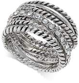 INC International Concepts I.N.C. Textured Pavandeacute; Statement Ring, Created for Macy's