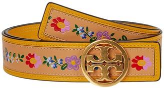 Tory Burch Floral Printed Belt (Natural Vachetta) Women's Belts