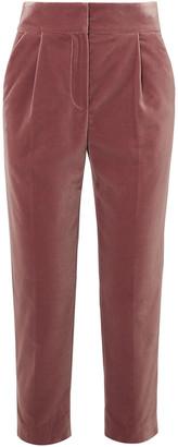 Brunello Cucinelli Cropped Cotton-velvet Straight-leg Pants