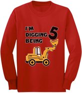 TeeStars 5th Birthday - Bulldozer Construction Party Toddler Toddler/Kids Long sleeve T-Shirt