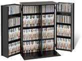 Prepac Locking Media Storage Cabinet with Shaker Doors
