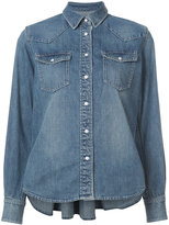 Sacai belted denim shirt - women - Cotton - 2