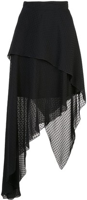 Amiri Plumetisse asymmetric long skirt