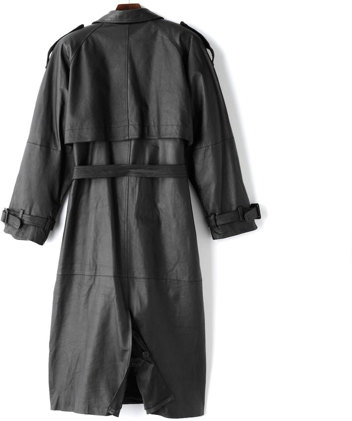 Excelled Men's Excelled Nappa Leather Trench Coat