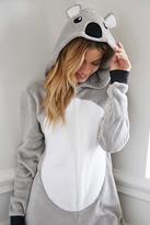 Forever 21 Koala Plush PJ Jumpsuit