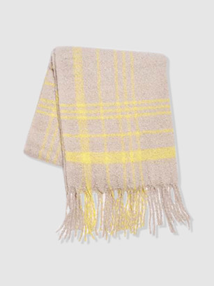 Free People Prep Brushed Plaid Scarf
