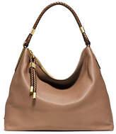 Michael Kors Skorpios Top-Zip Leather Shoulder Bag