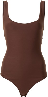 Alix Square-Neck Sleeveless Bodysuit