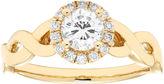 MODERN BRIDE Womens 5/8 CT. T.W. Round White Diamond 14K Gold Engagement Ring