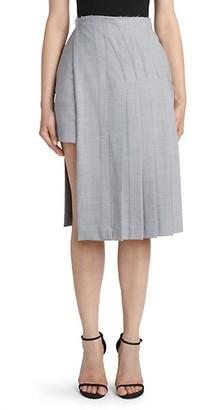 Rokh Layered Kilt Knee-Length Skirt