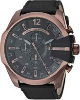 Diesel Men's 'Mega Chief' Quartz Stainless Steel and Leather Casual Watch, Color: (Model: DZ4459)