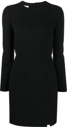 Valentino Stretch Double Crepe Short Wool Dress