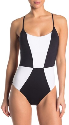 Mossimo Block Party Colorblock One-Piece Swimsuit