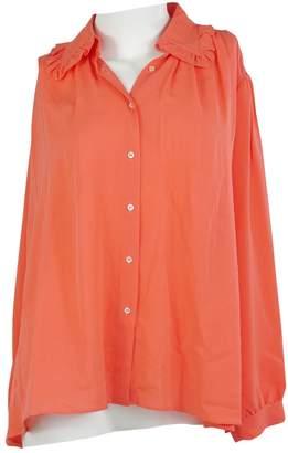 Charles Anastase Orange Silk Top for Women