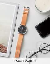 Skagen Hagen Leather Connected Smart Watch In Tan