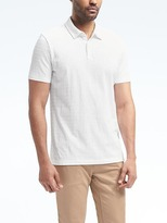 Banana Republic Mixed-Texture Polo