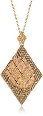 Azhar Rosa Silver and Zircon Pendant Necklace