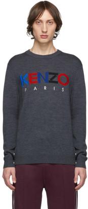 Kenzo Grey Wool Paris Sweater