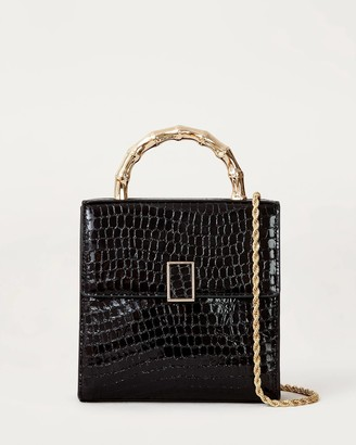 Loeffler Randall Tani Mini Square Crossbody Black