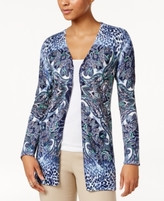 JM Collection Petite Printed Flyaway Cardigan, Created for Macy's