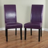 Monsoon Villa Faux Leather Boysenberry Dining Chairs (Set of 2)