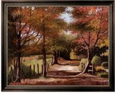 """Country Road """"Autumn Framed Canvas Wall Art by Lene Alston Casey"""